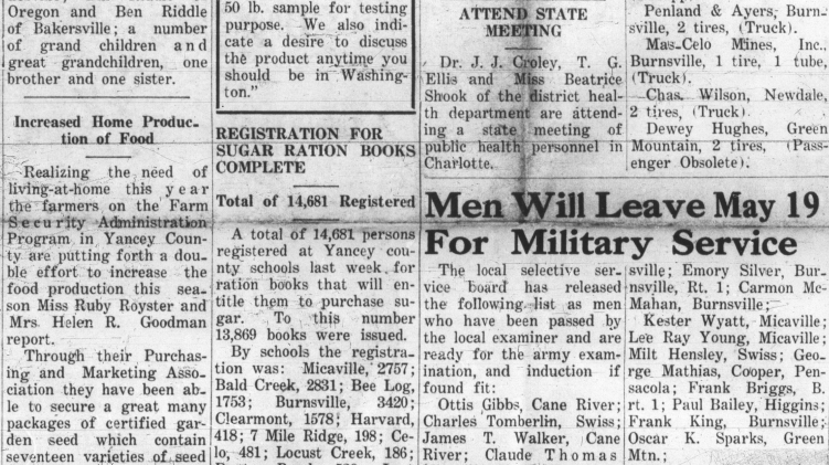 The Yancey Record, May 14, 1942