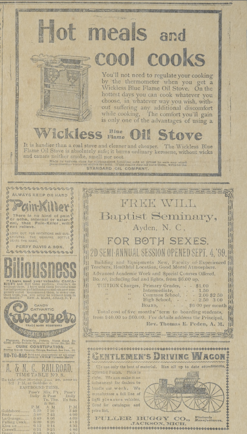 Ads from The Free Will Baptist Newspaper