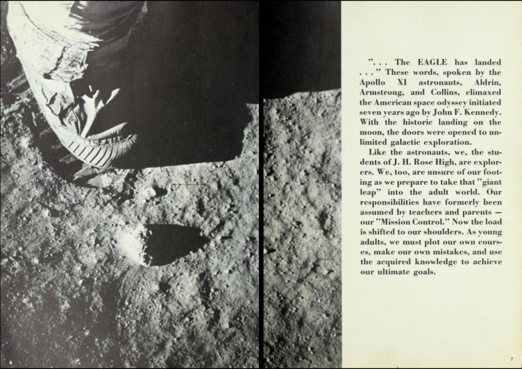 Photograph of astronaut's footprint on the surface of the moon