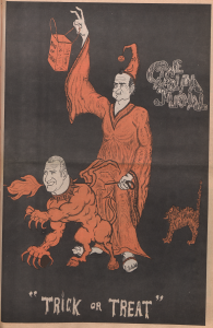 The Carolina Journal student newspaper's front page featuring Halloween drawing of Pres. Reagan and VP Spiro Agnew
