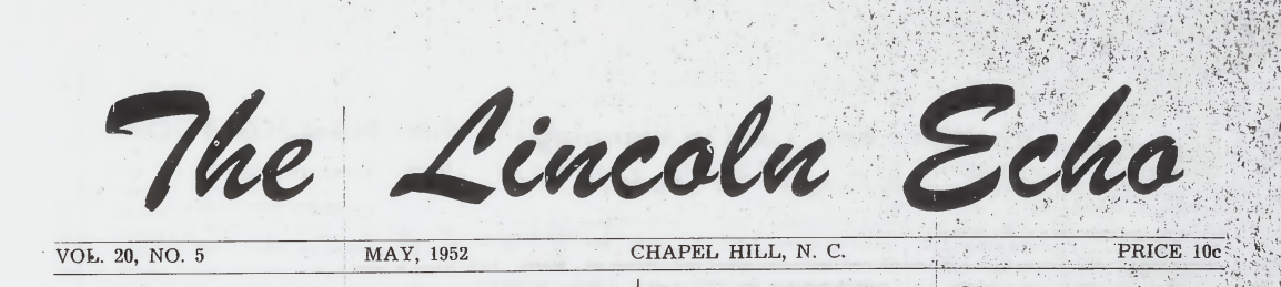 The Lincoln Echo, May 1952