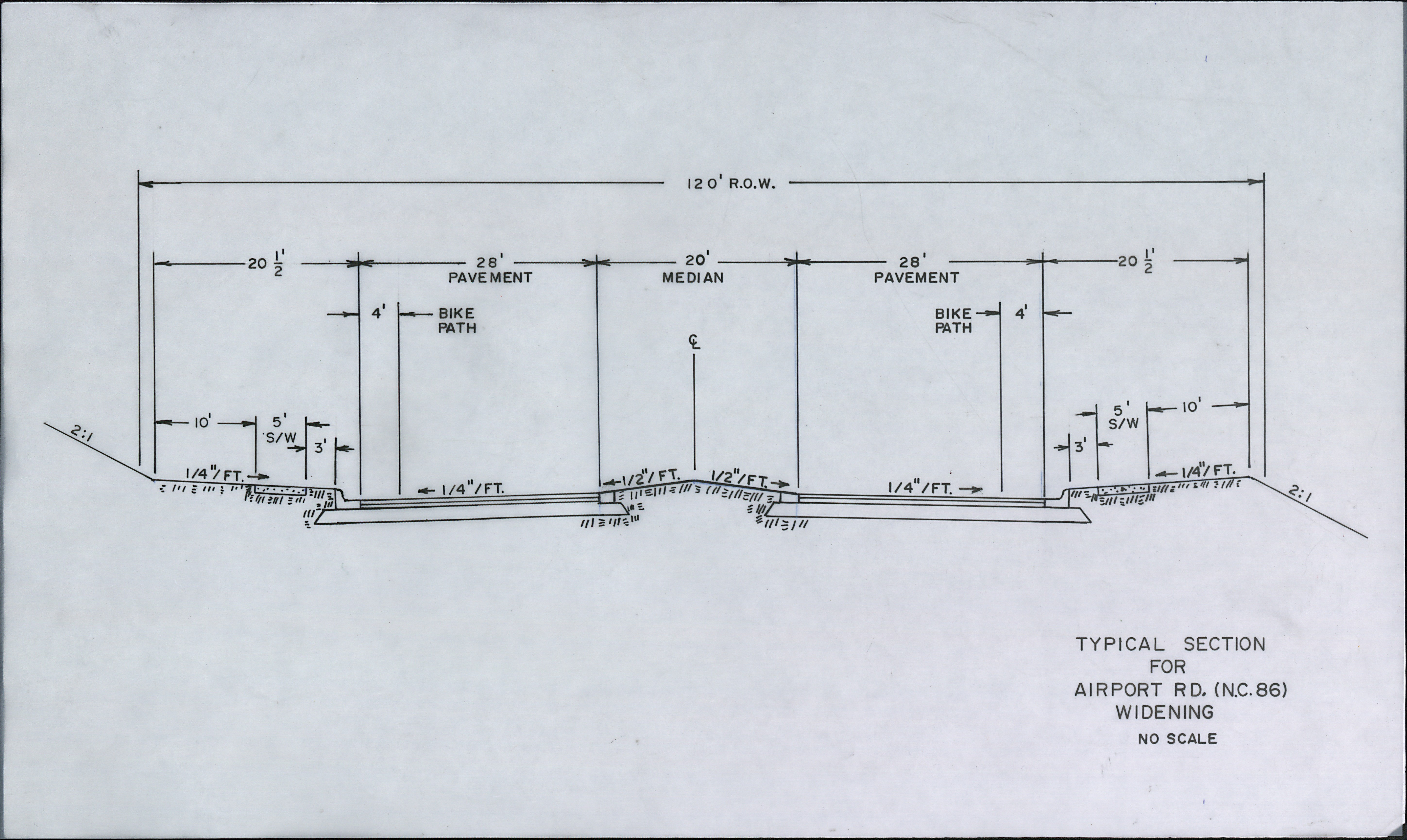 Plans for widening Airport Road (NC86)