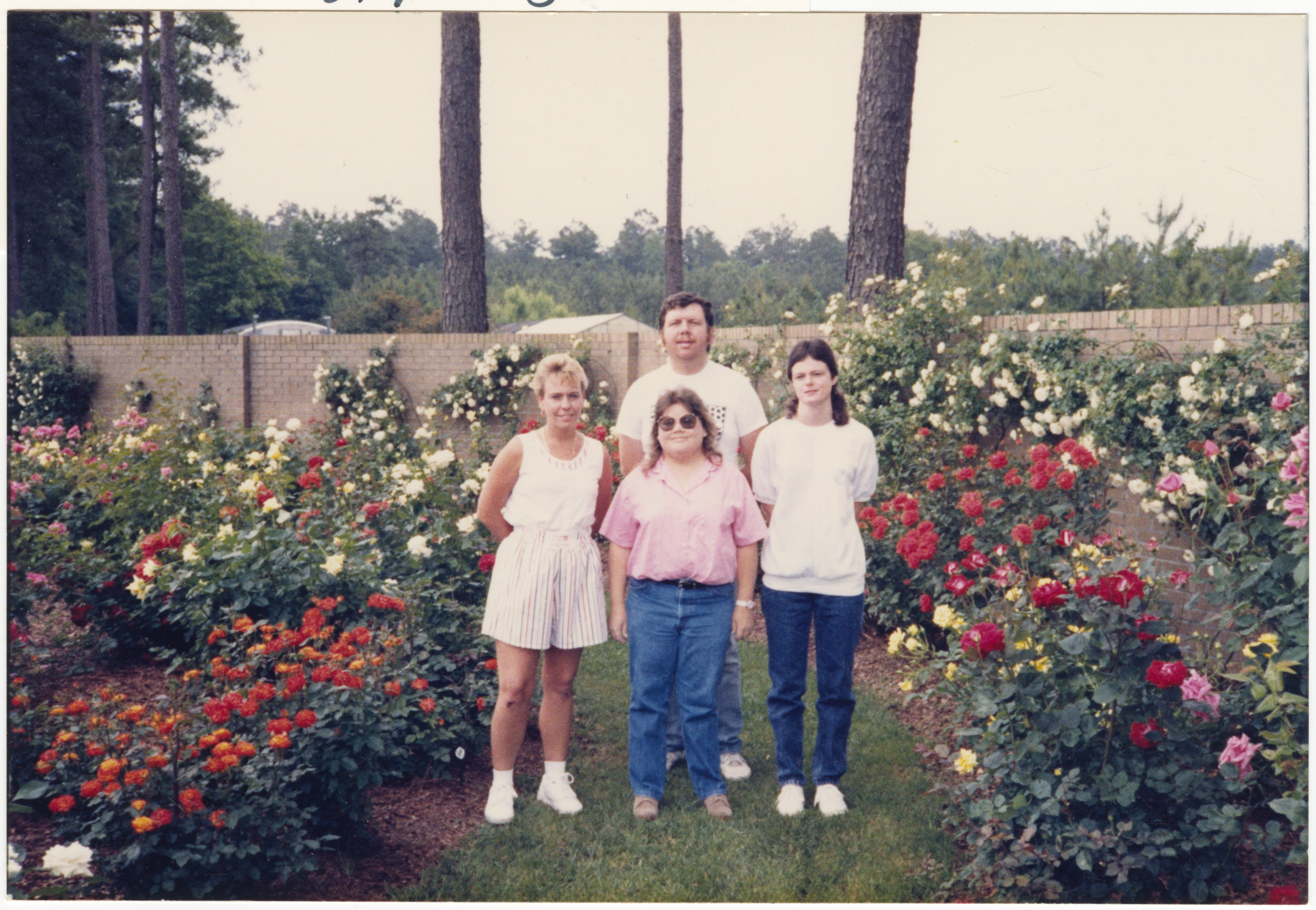 Marshall Casey, Carole Lawerence, Angela Batts, and Becky Turnage, from the staff of the 1989 Retrospect Yearbook