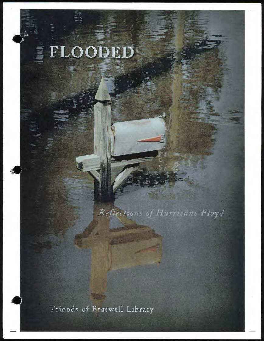 Flooded book cover with a color image of a mailbox surrounded by water