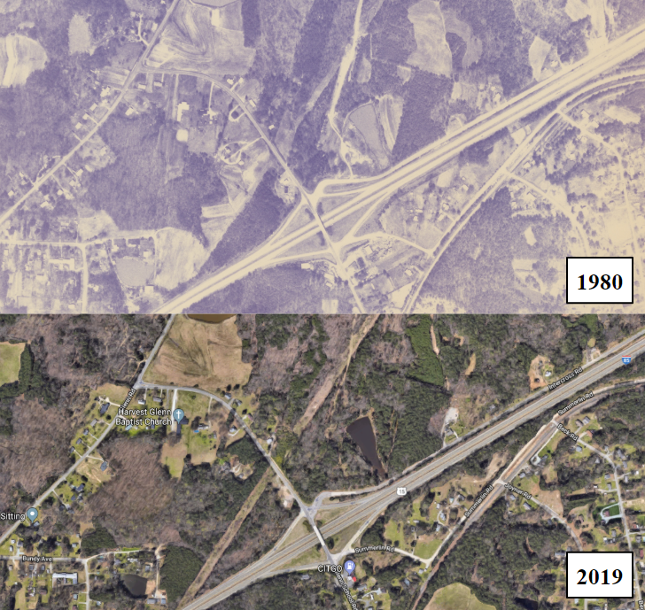 Durham County Aerial Photographs from 1980 and a 1951 Zoning Map Recently Added to DigitalNC