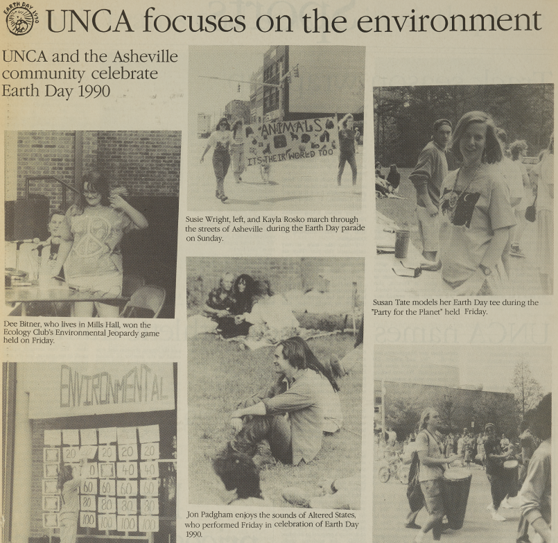 An article on Earth Day celebrations at UNCA.