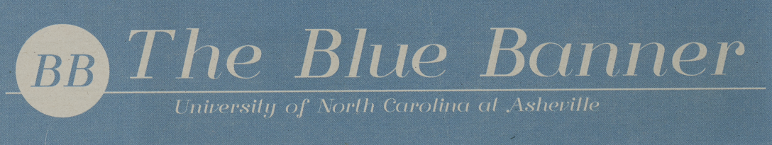 Masthead for The Blue Banner newspaper.