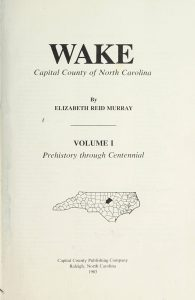 Book about the History of Wake County Now Online