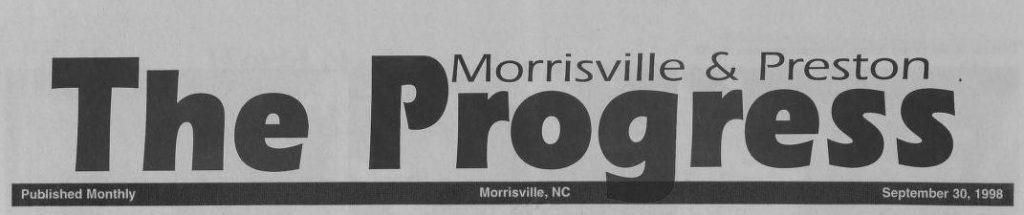 Masthead of The Morrisville & Preston Progress