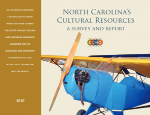 NC ECHO report cover with image of biplane