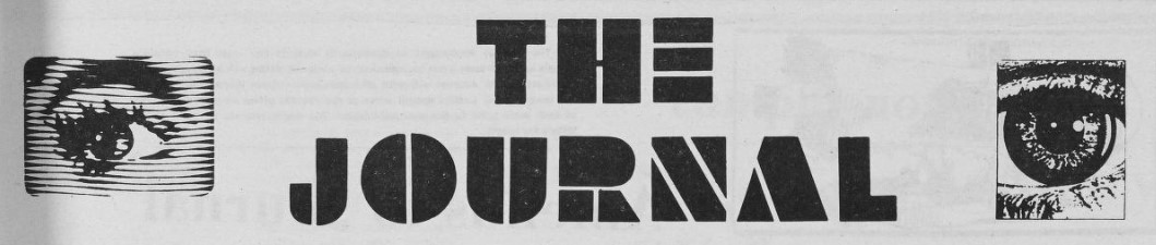 Masthead for The Journal. To the right and left of the title are graphic close ups of of eyes.