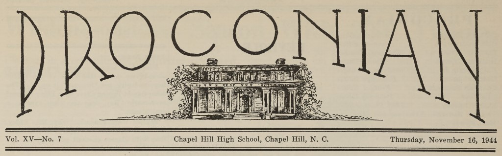 New Chapel Hill High School Student Newspaper and More Yearbooks Now Online