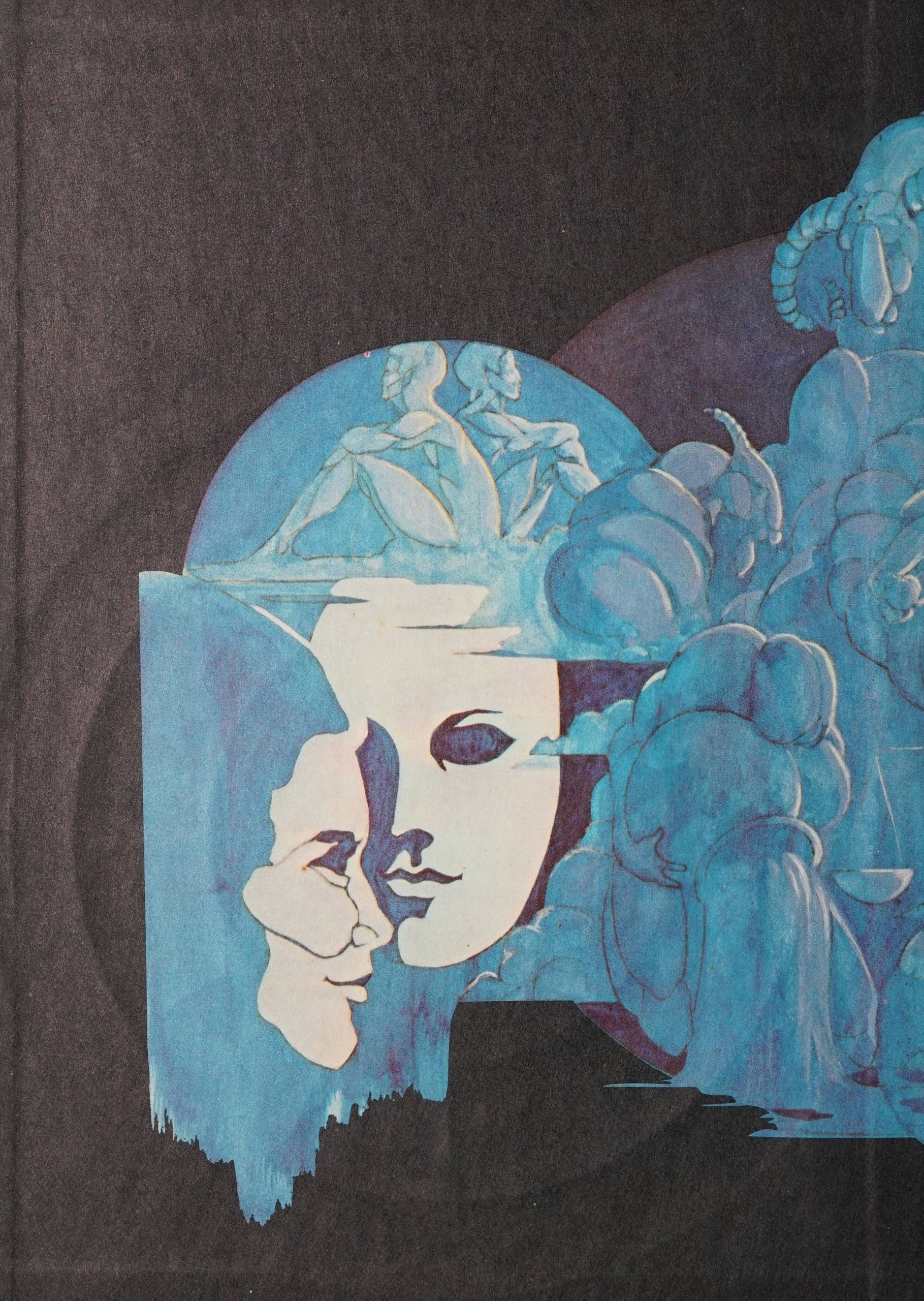 The front cover image of the book shows the various images for the twelve Western zodiacs (e.g. for Aquarius there is a man pouting water out of a container; Gemini has two twins sitting back to back).
