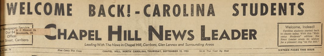 New Newspaper, Chapel Hill News Leader, Online Now