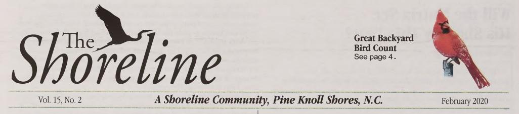 Caption for The Shoreline newspaper.
