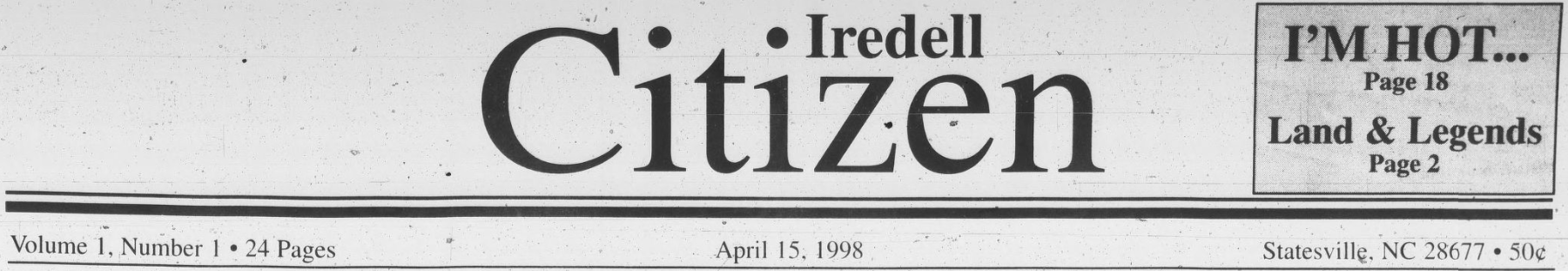 Complete Collection of the Iredell Citizen Now Available